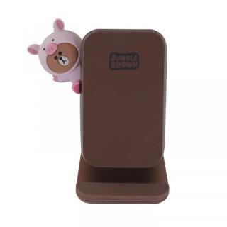 ジャングルブラウン ワイヤレス充電スタンド (5W/7.5W/10W) ピギーブラウン