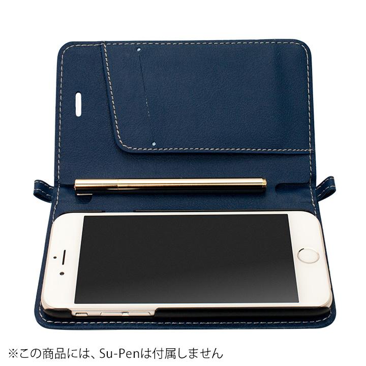 【4月中旬】Su-Penホルダー付手帳型ケース ディープブルー iPhone 6
