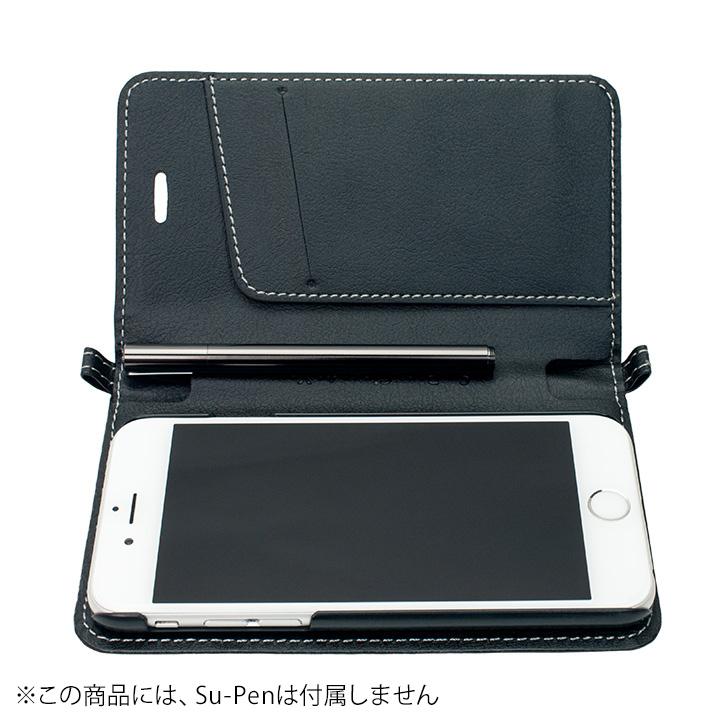 Su-Penホルダー付手帳型ケース ブラック iPhone 6s/6