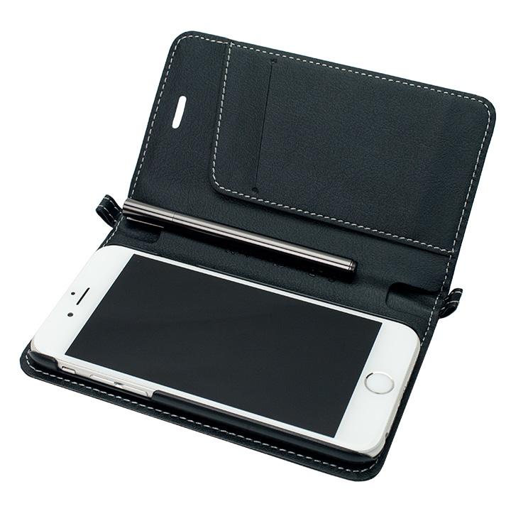【iPhone6ケース】Su-Penホルダー付手帳型ケース+Su-Penスペシャルセット ブラック+ブラックニッケル iPhone 6_0