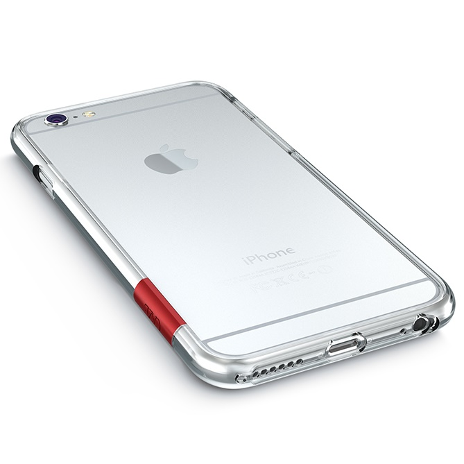 iPhone6 ケース 最薄1mmハードバンパーケース ThinEdge frame case クリアー iPhone 6_0