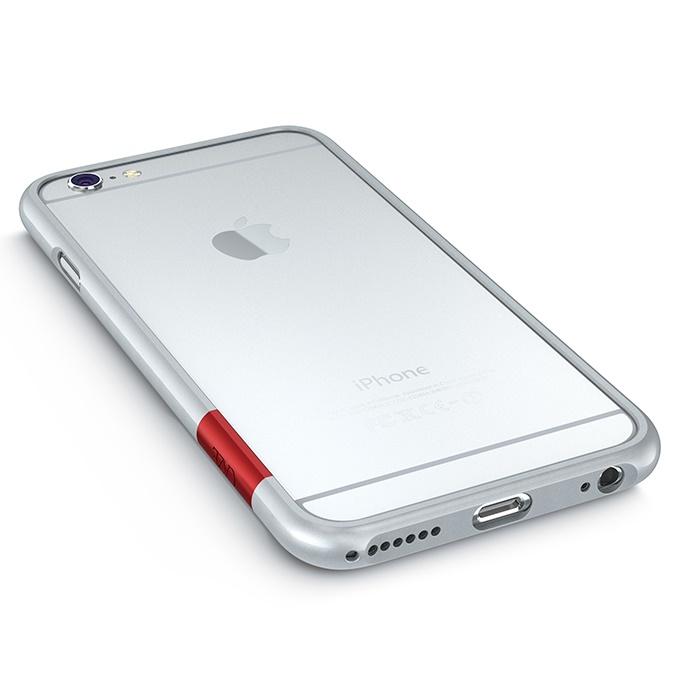 【iPhone6ケース】最薄1mmハードバンパーケース ThinEdge frame case マットシルバー iPhone 6_0