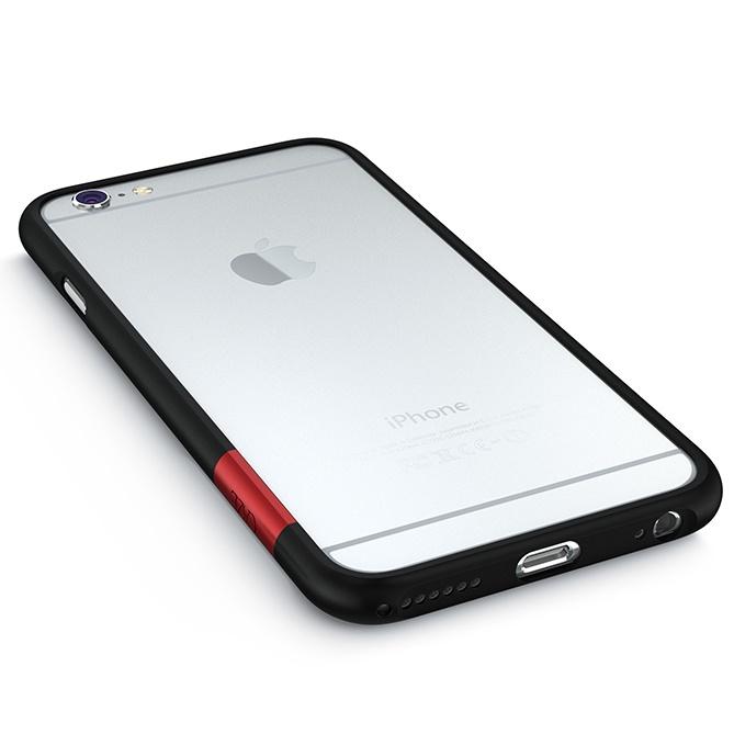【iPhone6ケース】最薄1mmハードバンパーケース ThinEdge frame case マットブラック iPhone 6_0