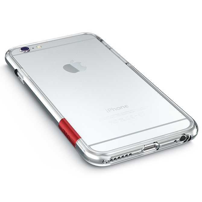 【iPhone6 Plusケース】最薄1mmハードバンパーケース ThinEdge frame case クリアー iPhone 6 Plus_0