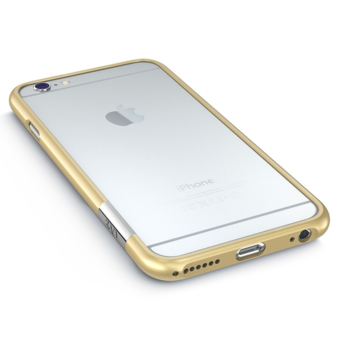 iPhone6 ケース 最薄1mmハードバンパーケース ThinEdge frame case ゴールド iPhone 6_0