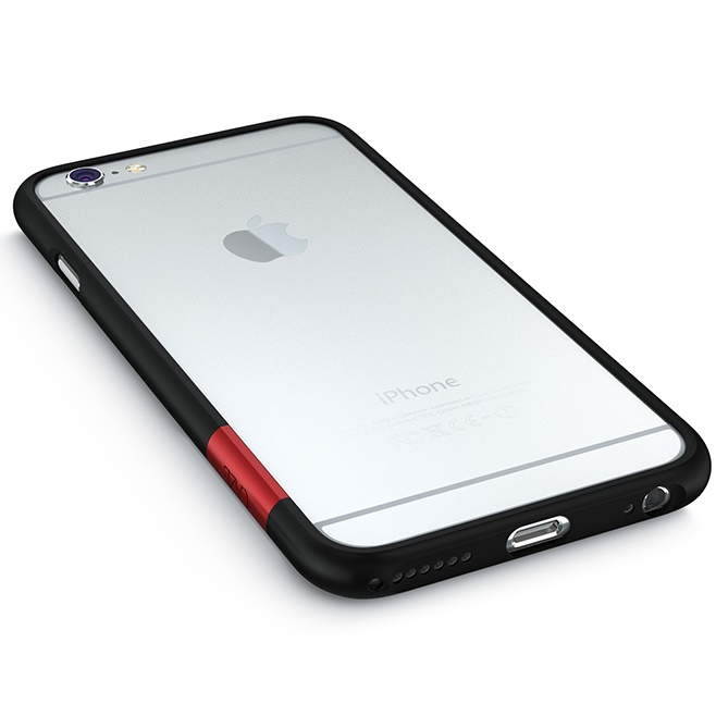 iPhone6 Plus ケース 最薄1mmハードバンパーケース ThinEdge frame case マットブラック iPhone 6 Plus_0