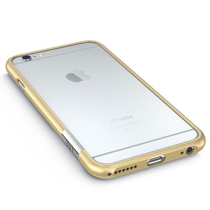 iPhone6 Plus ケース 最薄1mmハードバンパーケース ThinEdge frame case ゴールド iPhone 6 Plus_0