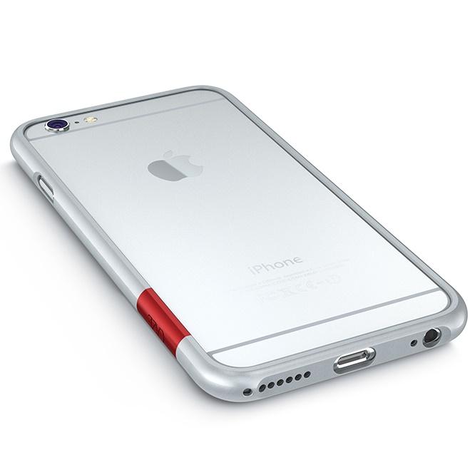 iPhone6 Plus ケース 最薄1mmハードバンパーケース ThinEdge frame case マットシルバー iPhone 6 Plus_0