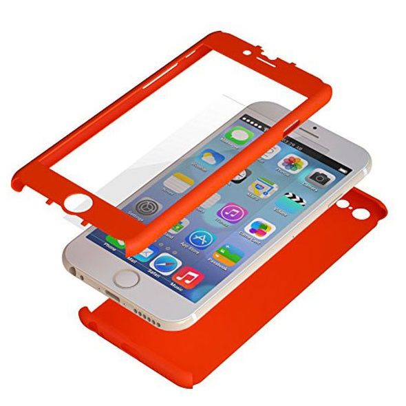 【iPhone6ケース】極薄ハードケース ZENDO Nano Skin オレンジ iPhone 6_0