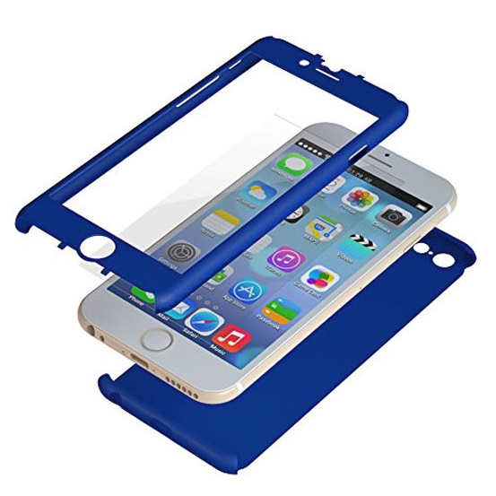 iPhone6 ケース 極薄ハードケース ZENDO Nano Skin ブルー iPhone 6_0