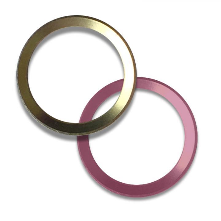 Touch ID対応ホームボタンリング truffol Layered Ring 2個入り ゴールド