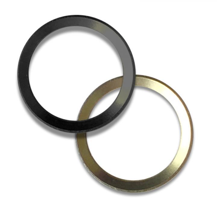 Touch ID対応ホームボタンリング truffol Layered Ring 2個入り ブラック_0