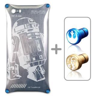 アルミソリッド スター・ウォーズ R2-D2 シルバー iPhone SE/5s/5 ケース