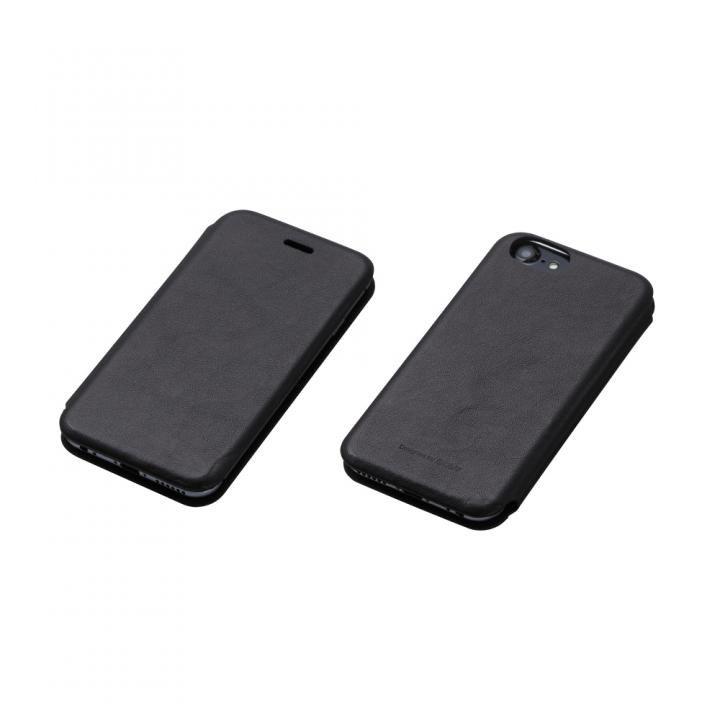 iPhone7/6s/6 ケース Deff 天然牛革手帳型ケース MASK ブラック iPhone 7/6s/6_0