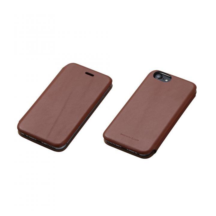 iPhone7/6s/6 ケース Deff 天然牛革手帳型ケース MASK ブラウン iPhone 7/6s/6_0