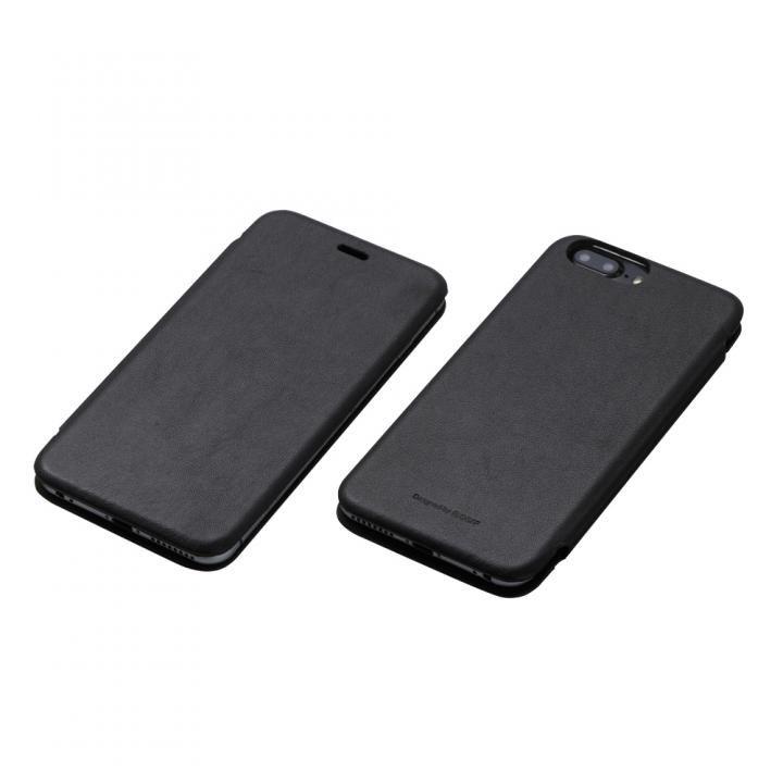 iPhone7 Plus/6s Plus ケース Deff 天然牛革手帳型ケース MASK ブラック iPhone 7 Plus/6s Plus/6 Plus_0