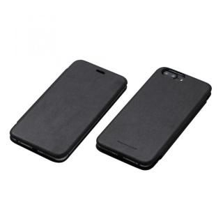 iPhone7 Plus/6s Plus ケース Deff 天然牛革手帳型ケース MASK ブラック iPhone 7 Plus/6s Plus/6 Plus