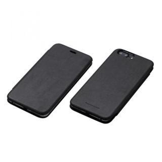 【iPhone7 Plus/6s Plusケース】Deff 天然牛革手帳型ケース MASK ブラック iPhone 7 Plus/6s Plus/6 Plus