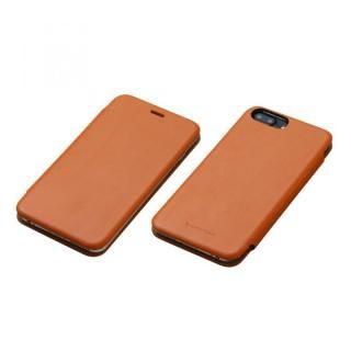 Deff 天然牛革手帳型ケース MASK キャメル iPhone 7 Plus/6s Plus/6 Plus
