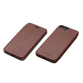 Deff 天然牛革手帳型ケース MASK ブラウン iPhone 7 Plus/6s Plus/6 Plus