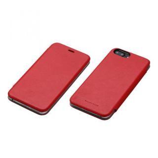 Deff 天然牛革手帳型ケース MASK レッド iPhone 7 Plus/6s Plus/6 Plus