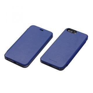 iPhone7 Plus/6s Plus ケース Deff 天然牛革手帳型ケース MASK ディープブルー iPhone 7 Plus/6s Plus/6 Plus