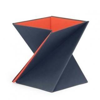 ひねってすぐ使える折りたたみ式スタンディングデスク LEVIT8 Mサイズ/レッド