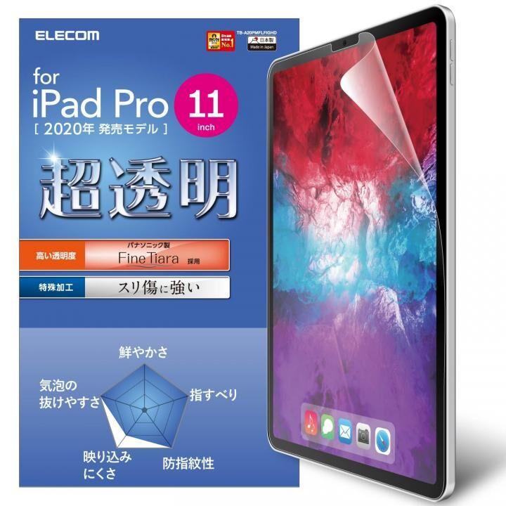 液晶保護フィルム 超透明 高光沢 指紋防止 撥水加工 iPad Pro 2020/2018 11インチ_0