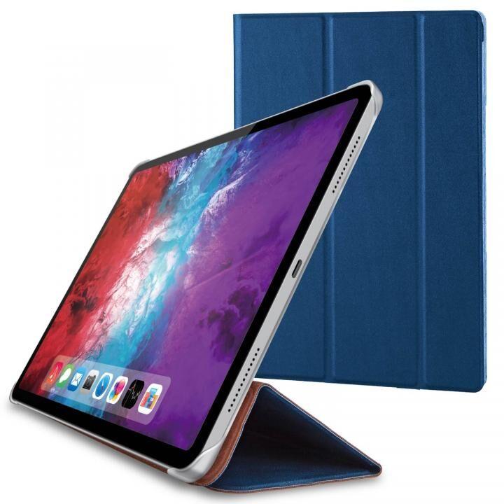 手帳型 耐衝撃 超薄型 軽量 ネイビー iPad Pro 2020 11インチ_0