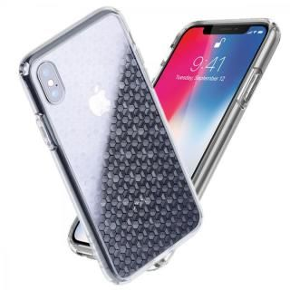 iPhone X ケース Athand シークレットシャイン ピュアクリア/ヘキサゴン iPhone X