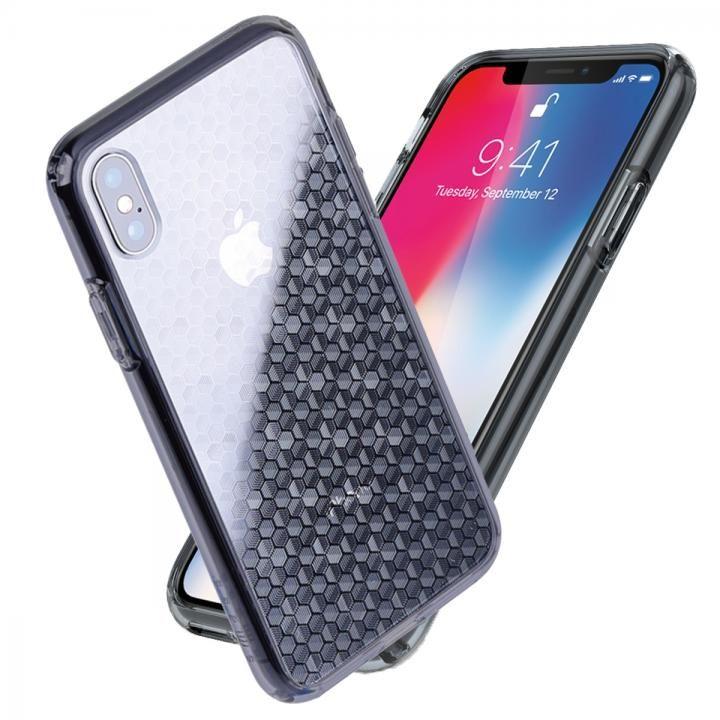 iPhone X ケース Athand シークレットシャイン グレークリア/ヘキサゴン iPhone X_0