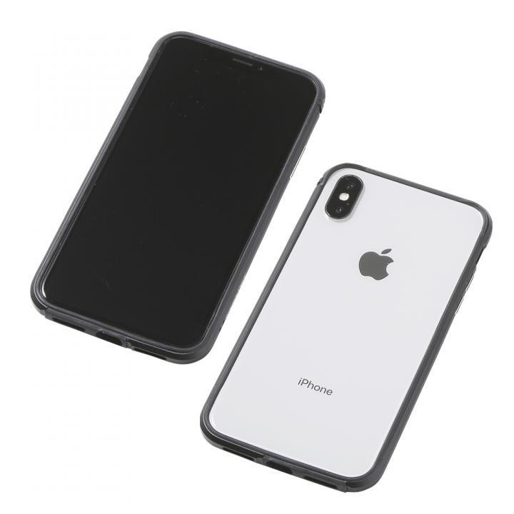 【iPhone XS/Xケース】Deff アルミニウム/TPU 軽量バンパー AERO ブラック iPhone XS/X_0