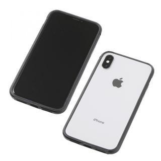 Deff アルミニウム/TPU 軽量バンパー AERO ブラック iPhone X