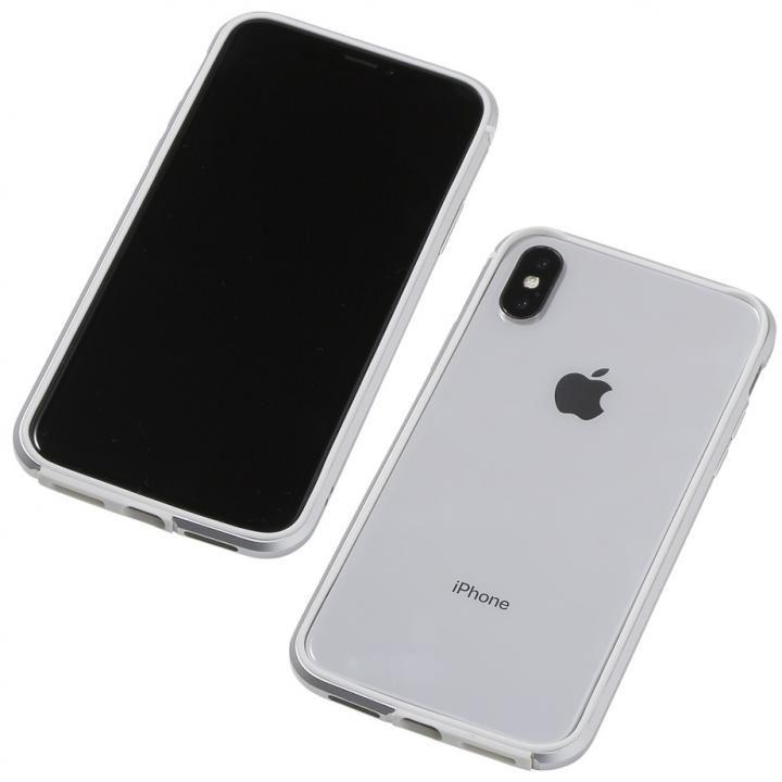 iPhone XS/X ケース Deff アルミニウム/TPU 軽量バンパー AERO シルバー iPhone XS/X_0