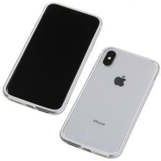 【iPhone X ケース】Deff アルミニウム/TPU 軽量バンパー AERO シルバー iPhone X