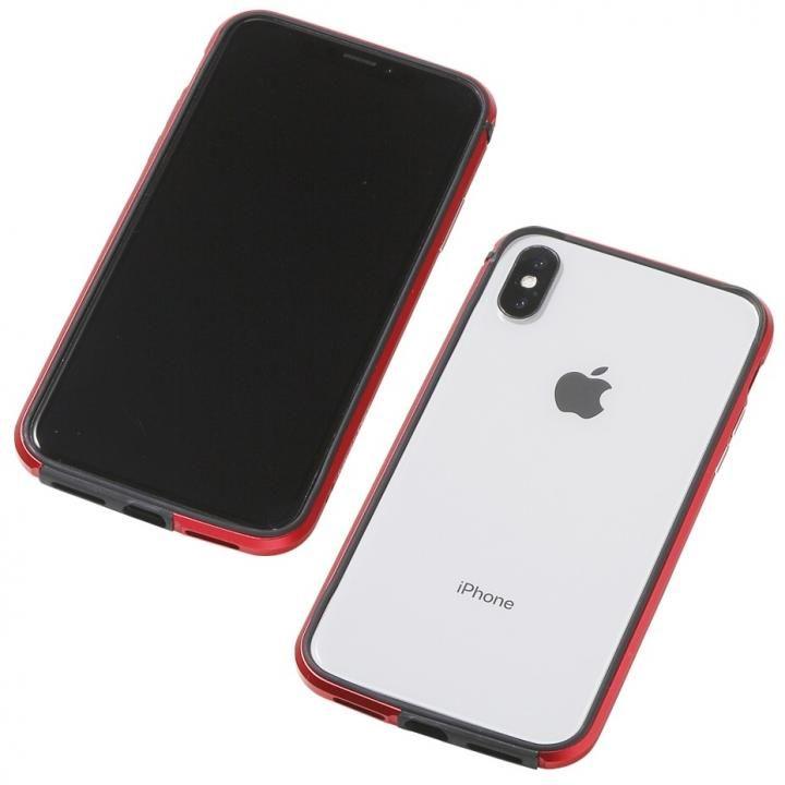 【iPhone XS/Xケース】Deff アルミニウム/TPU 軽量バンパー AERO レッド iPhone XS/X_0