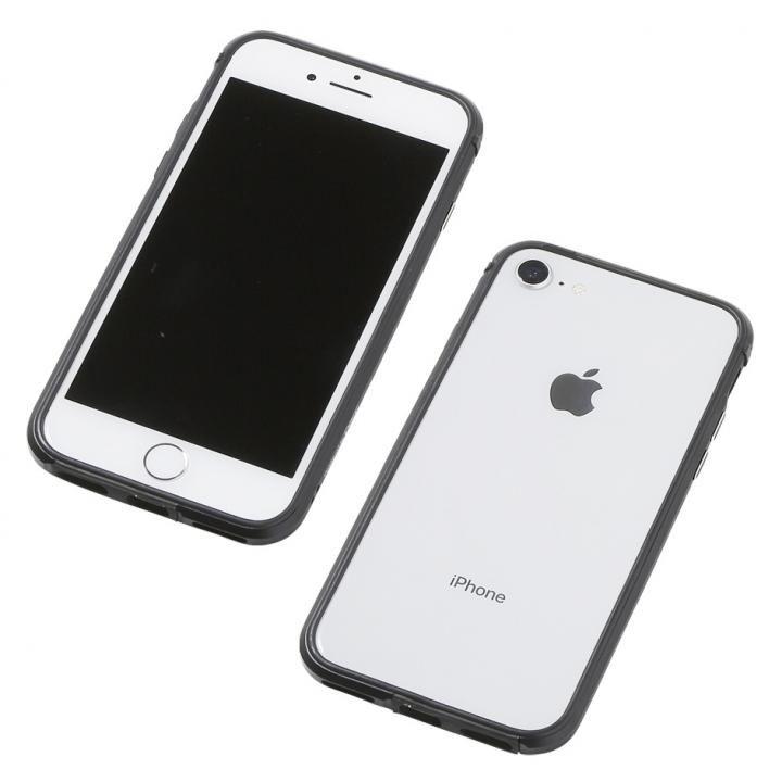 【iPhone8/7/6s/6ケース】Deff アルミニウム/TPU 軽量バンパー AERO ブラック iPhone 8/7/6s/6_0