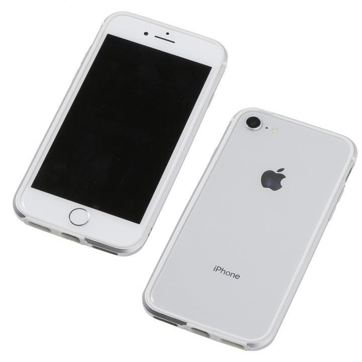 iPhone8/7/6s/6 ケース Deff アルミニウム/TPU 軽量バンパー AERO シルバー iPhone 8/7/6s/6_0