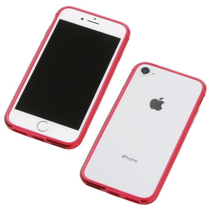 Deff アルミニウム/TPU 軽量バンパー AERO レッド iPhone 8/7/6s/6【7月中旬】