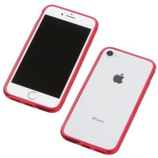 Deff アルミニウム/TPU 軽量バンパー AERO レッド iPhone 8/7/6s/6