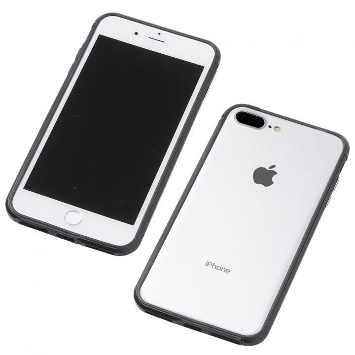 Deff アルミニウム/TPU 軽量バンパー AERO ブラック iPhone 8 Plus/7 Plus/6s Plus/6 Plus