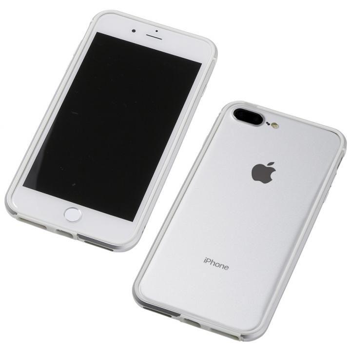 iPhone8 Plus/7 Plus ケース Deff アルミニウム/TPU 軽量バンパー AERO シルバー iPhone 8 Plus/7 Plus/6s Plus/6 Plus_0