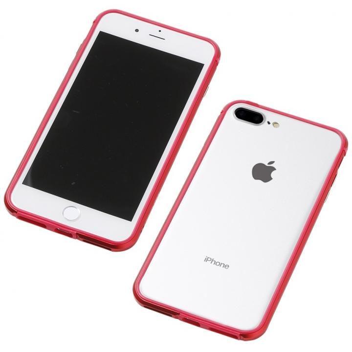 iPhone8 Plus/7 Plus ケース Deff アルミニウム/TPU 軽量バンパー AERO レッド iPhone 8 Plus/7 Plus/6s Plus/6 Plus_0