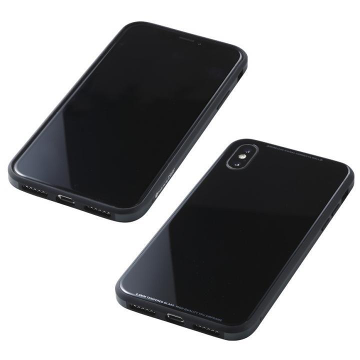 【iPhone XS/Xケース】Deff 強化ガラス/アルミ/TPU ハイブリッドケース UNIO ブラック iPhone XS/X_0
