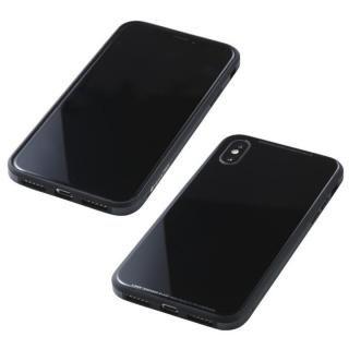 Deff 強化ガラス/アルミ/TPU ハイブリッドケース UNIO ブラック iPhone X