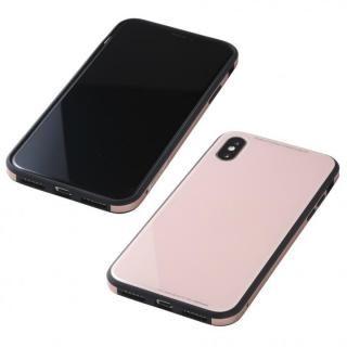 iPhone XS/X ケース Deff 強化ガラス/アルミ/TPU ハイブリッドケース UNIO ピンク iPhone XS/X