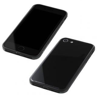 Deff 強化ガラス/アルミ/TPU ハイブリッドケース UNIO ブラック iPhone 8/7【5月上旬】