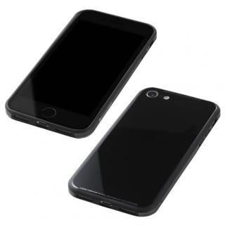 Deff 強化ガラス/アルミ/TPU ハイブリッドケース UNIO ブラック iPhone 8/7