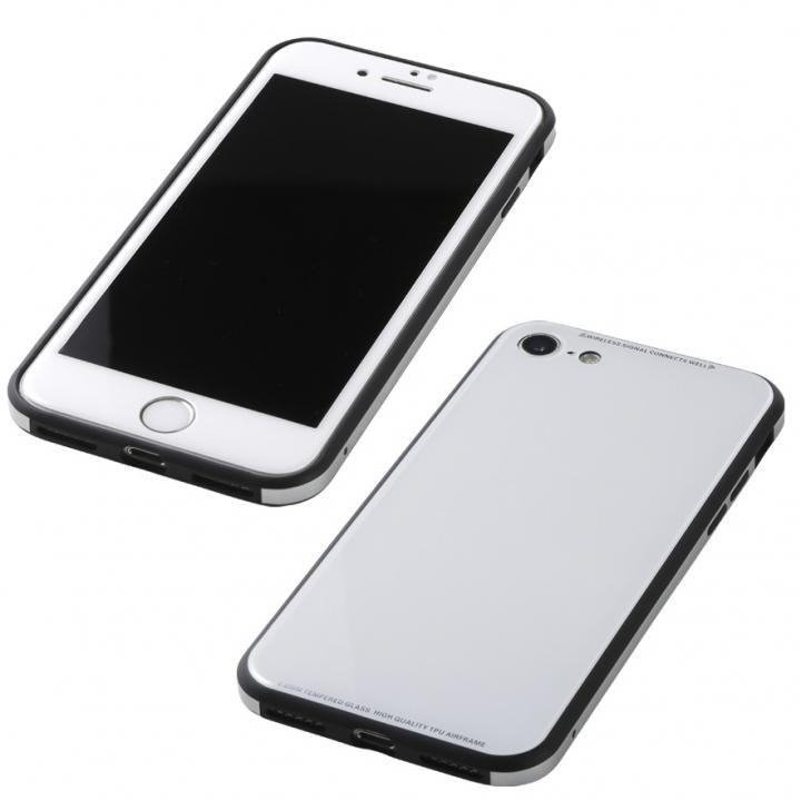 iPhone8/7 ケース Deff 強化ガラス/アルミ/TPU ハイブリッドケース UNIO ホワイト iPhone 8/7_0