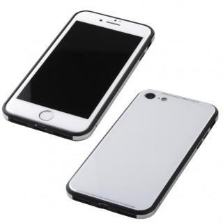 Deff 強化ガラス/アルミ/TPU ハイブリッドケース UNIO ホワイト iPhone 8/7【5月上旬】